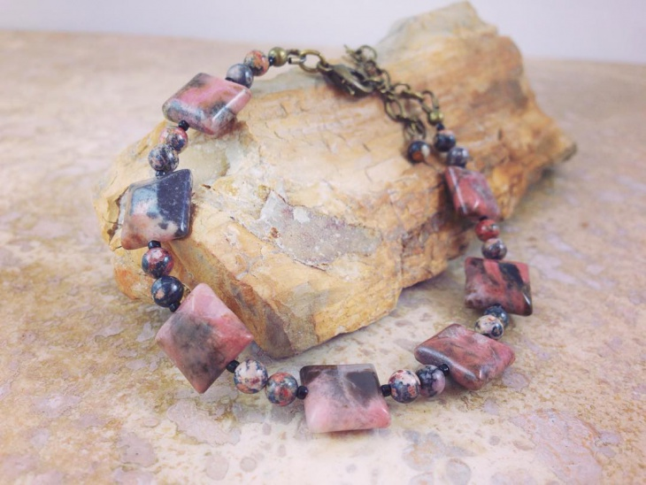Rhodonite Bracelete Jewelry