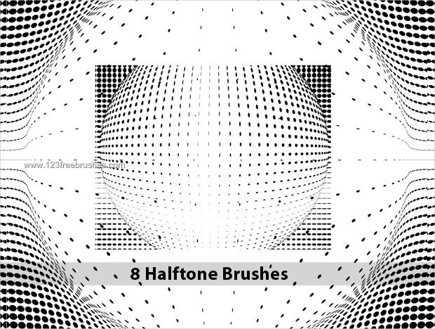 High Resolution Halftone Dot Brushes