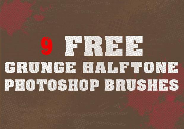 Grunge Halftone Brushes
