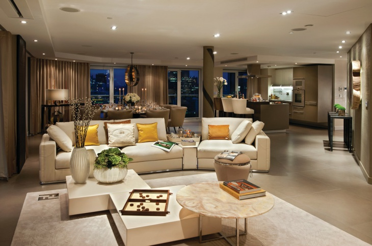 Wonderful Luxury Open Living Room Design