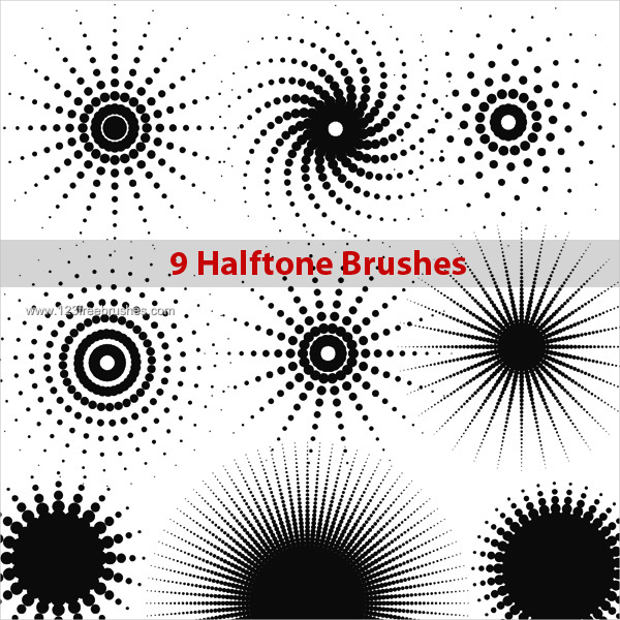 Halftone Dot Brushes