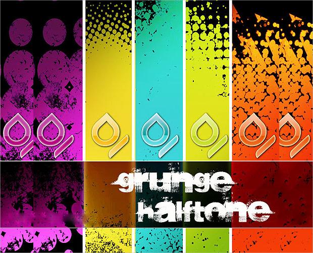 Halftone grunge Brushes