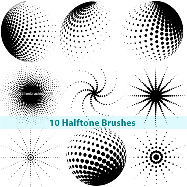 Design Trends Premium Psd Vector Downloads: 270+ Halftone Brushes, Download For Photoshop
