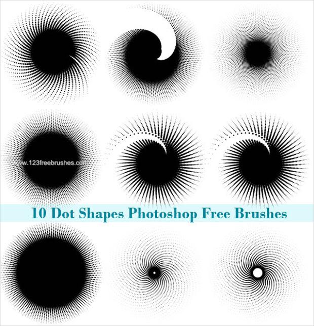 Halftone Dots Photoshop Brushes Set