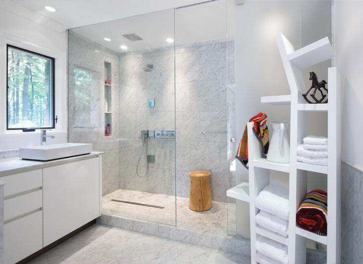 enclosed shower unit