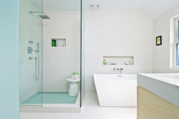 Recessed Shower Floor Idea