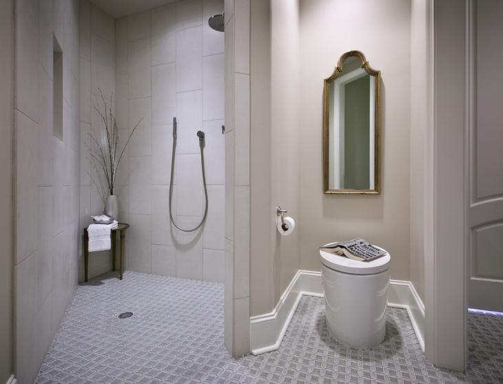 Modern Shower Curbless Design