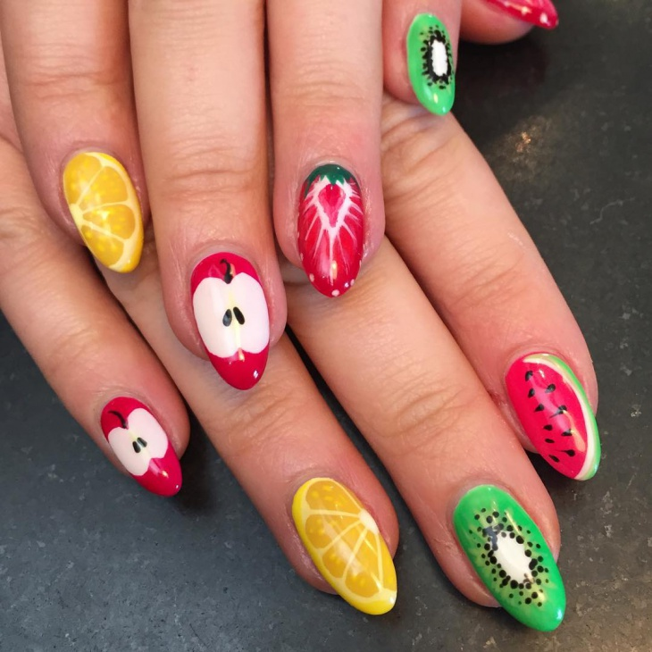 Fruit Slice Nail Art Design - 21+ Fruit Nail Art Designs, Ideas Design Trends - Premium PSD