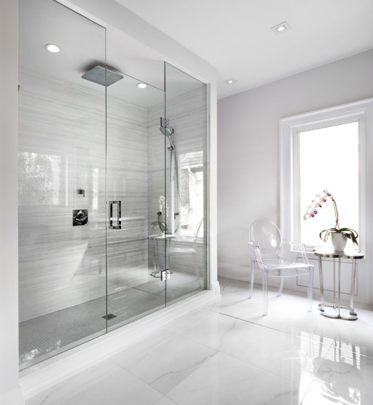 17+ Curbless Shower Designs, Ideas | Design Trends - Premium PSD ...