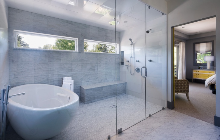tiny shower curbless design