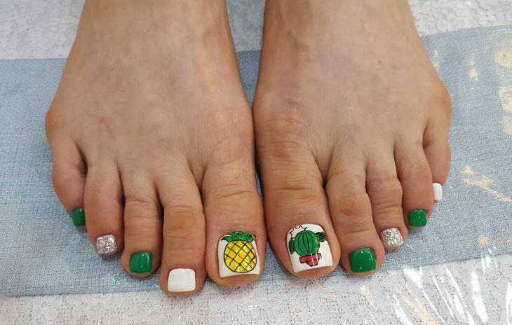 Fruit Toe Nail Design Idea