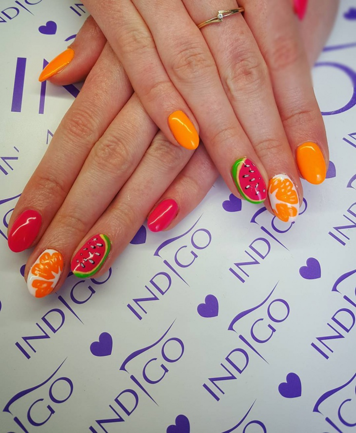 Cute Fruit Nail Art Design