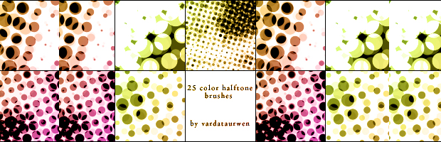 Color halftone brushes