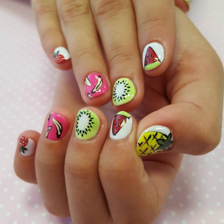 Fruit Nail Art for Short Nails