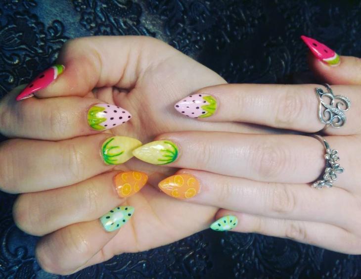 Pretty Fruit Nail Design Idea