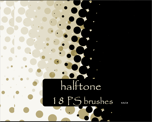 18 Halftone PS Brushes