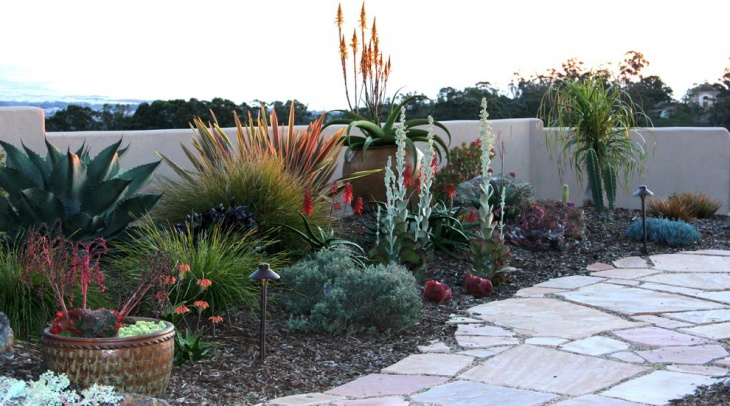 Perennials and Succulent Garden Idea