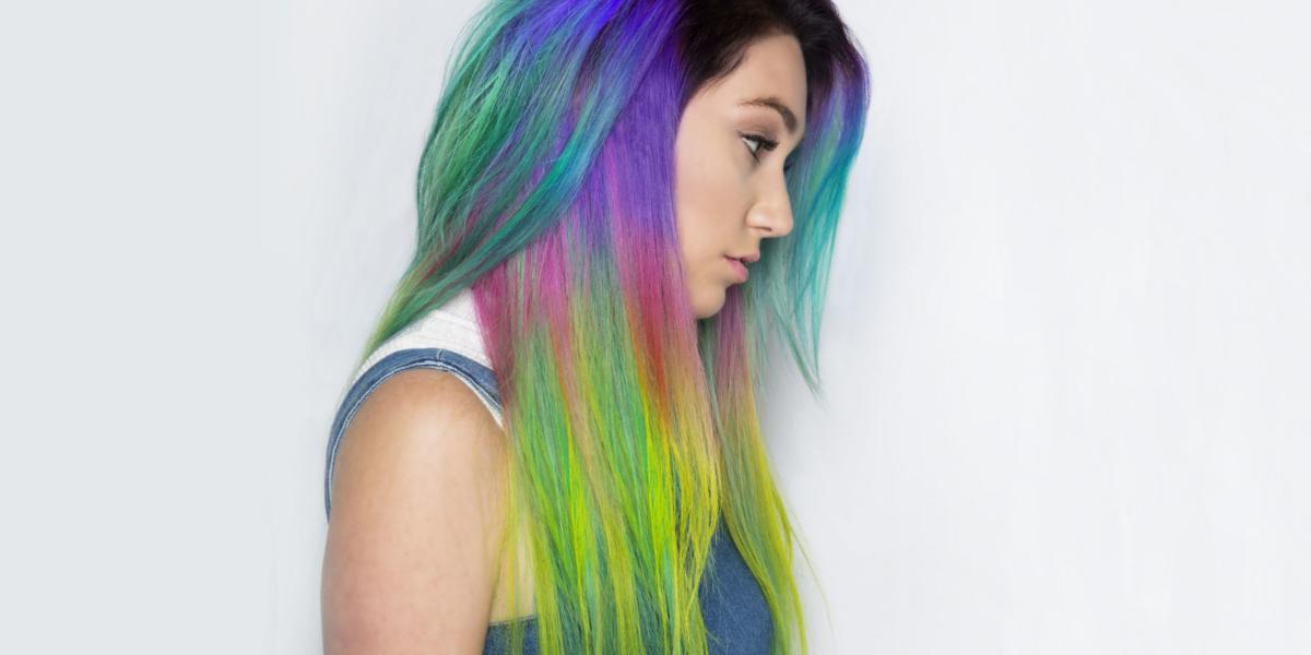 Rainbow Stripes Side Hair