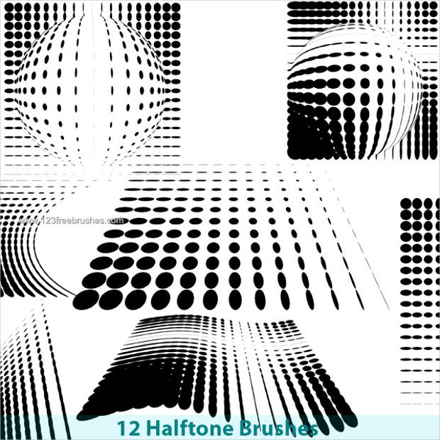 Free Photoshop Brushes Halftone Pattern