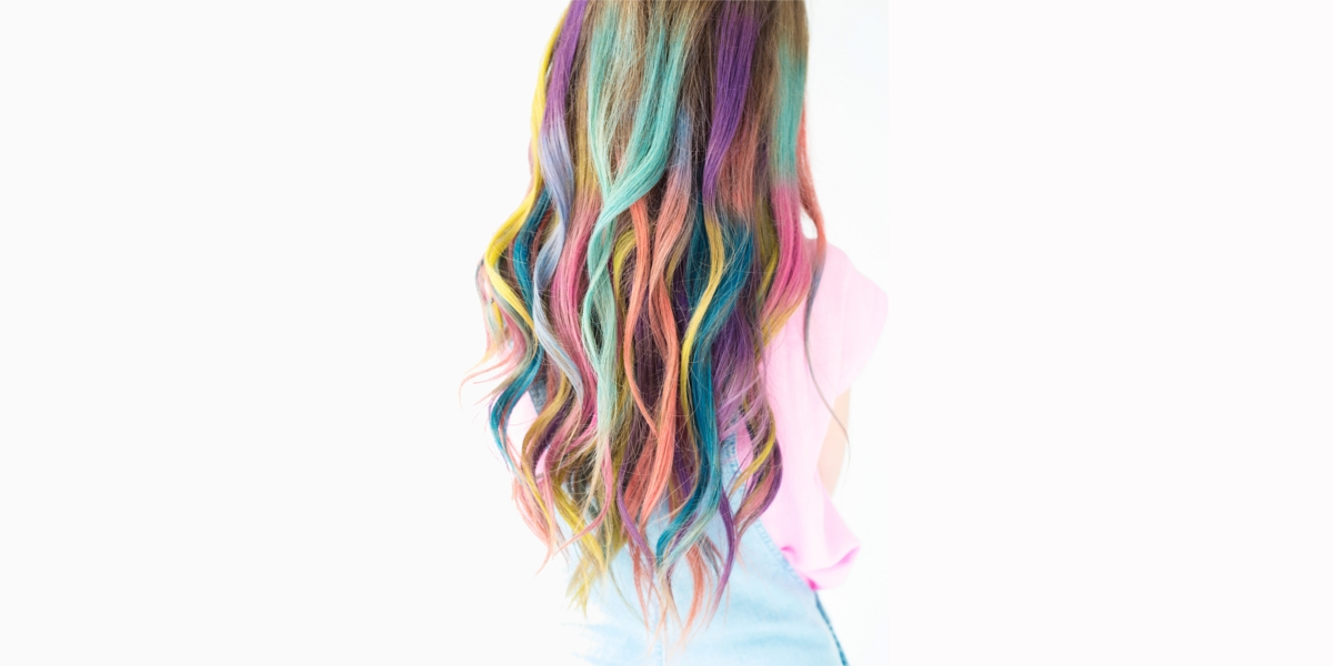 rainbow omber hair