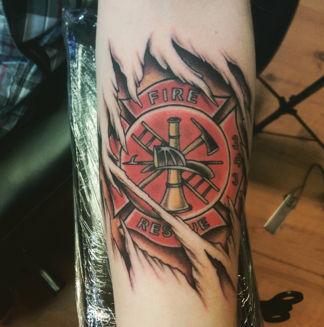 Burning Tattoo for Forearm