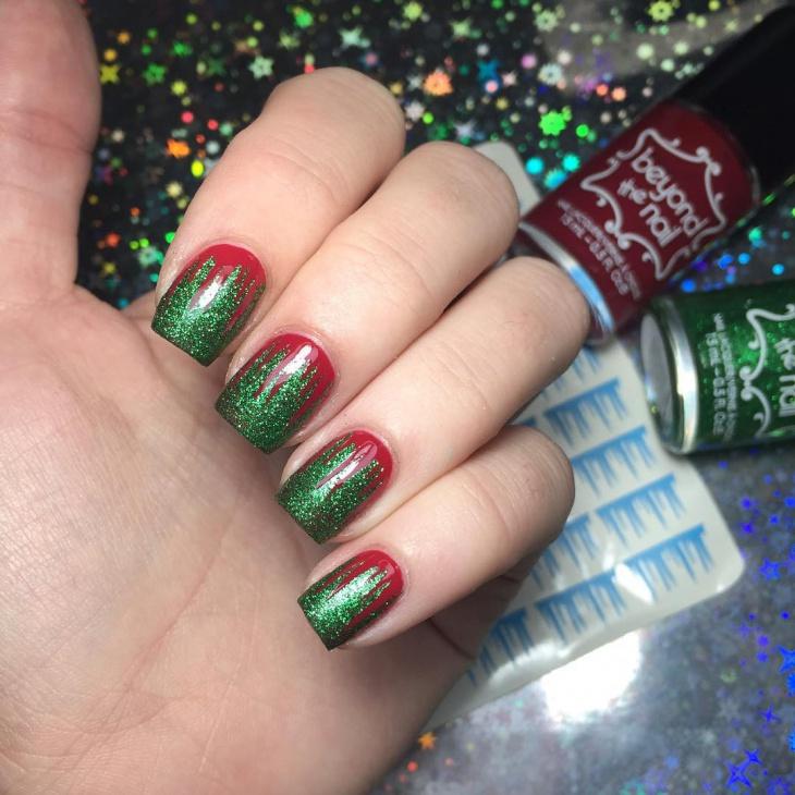 stud icicle nail art