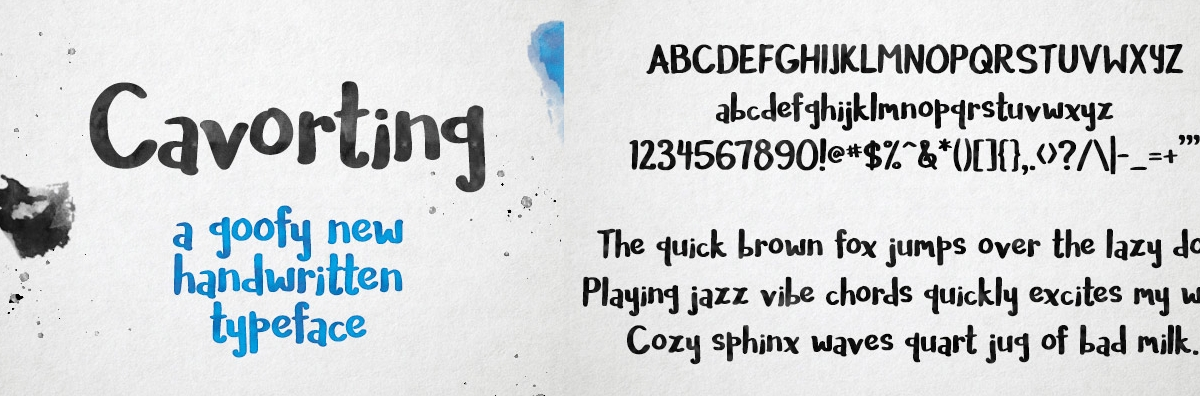 cavorting font