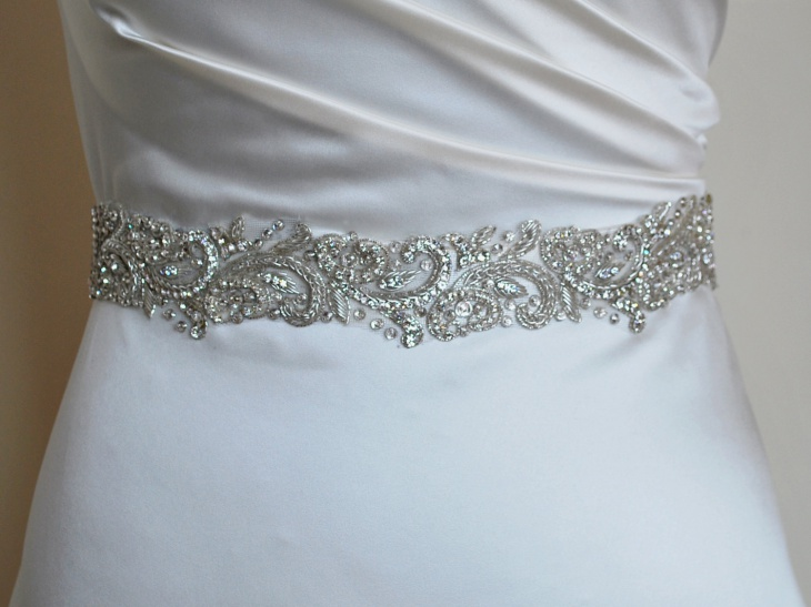 Crystal Embroidered Belt