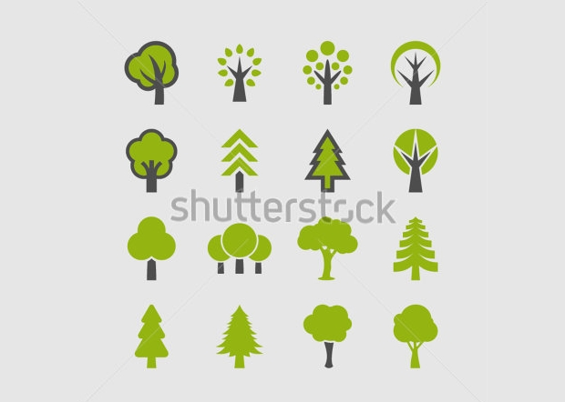 Abstract Tree Icons