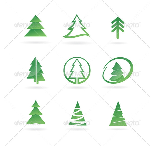 Pine Tree Icon Set
