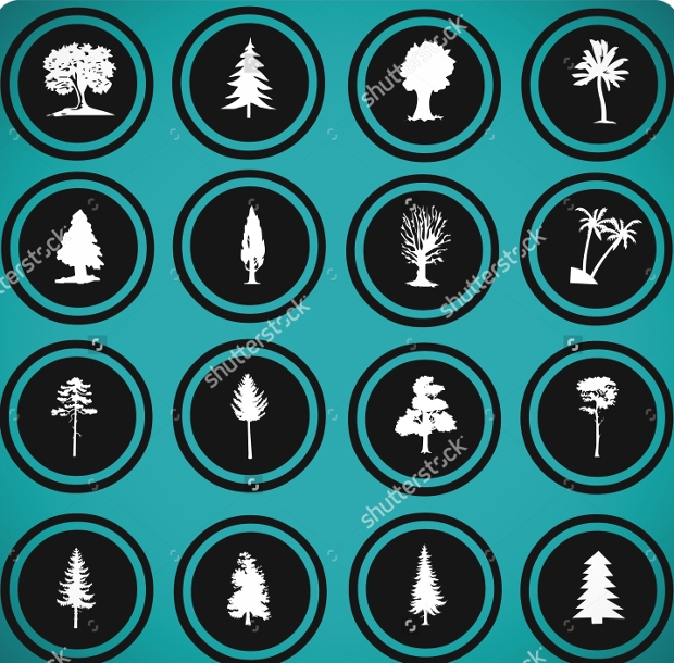 free vector tree icons