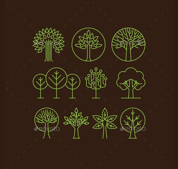 Transparent Season Tree Icons