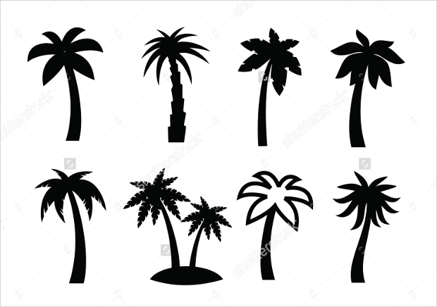palm tree vector icons