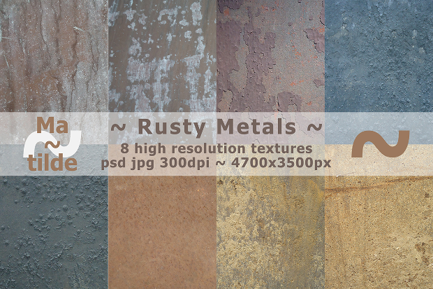 high resolution rusty metals