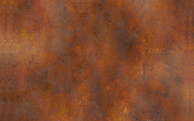 set of metal rust textures