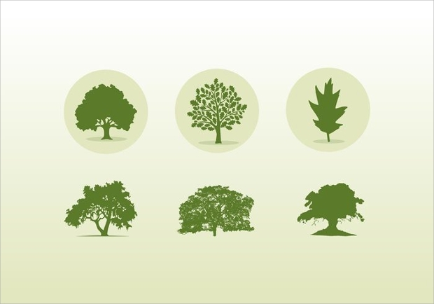 Oak Trees Icons