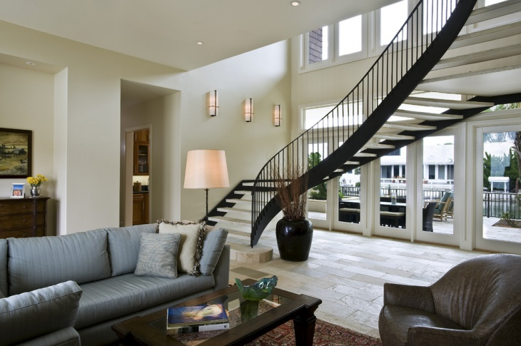 modern curved staircase design
