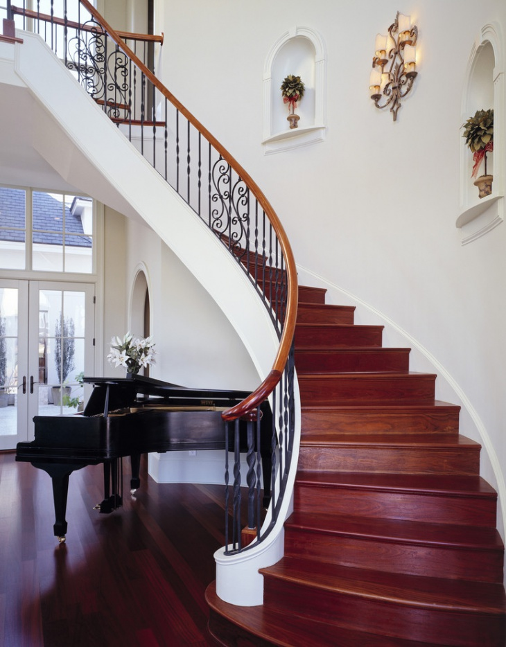 17 curved staircase designs ideas design trends for Curved staircase design plans