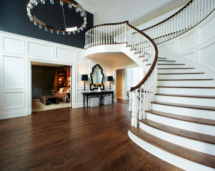 ornate curved staircase idea