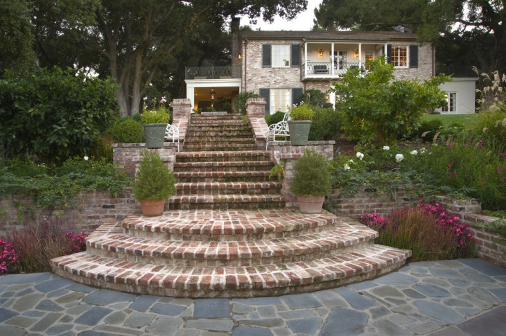 Curved Brick Staircase
