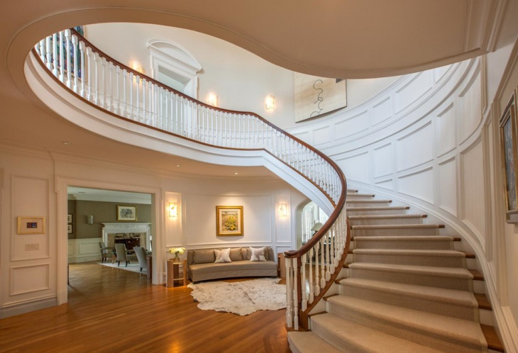 large curved staircase idea