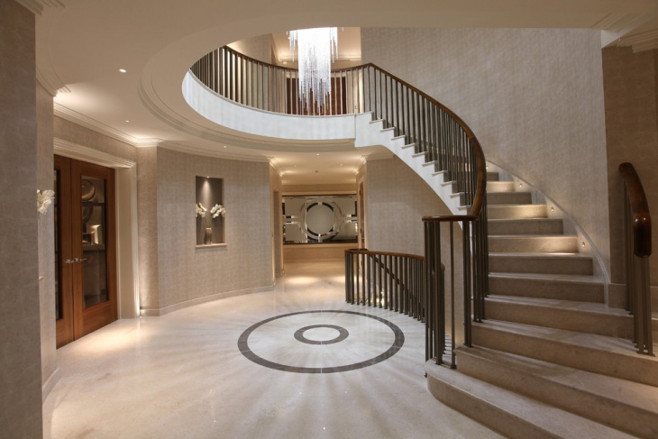 Interior Curved Staircase design
