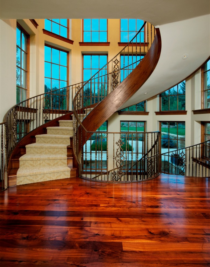 small curved staircase design