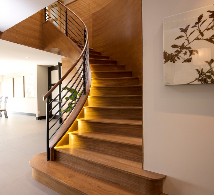 Curved Staircase Light Design