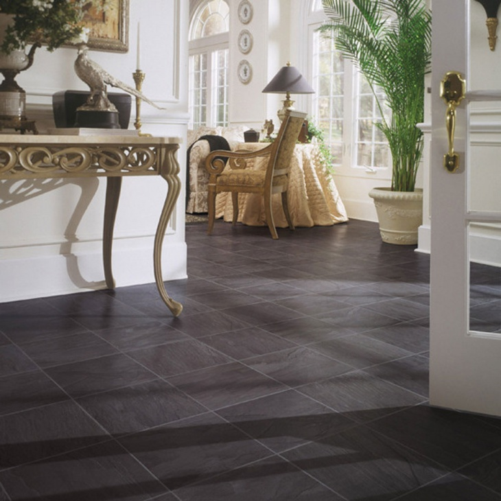 Square Laminate Tile Flooring