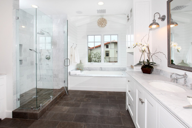 Bathroom Laminate Floor Tile Idea
