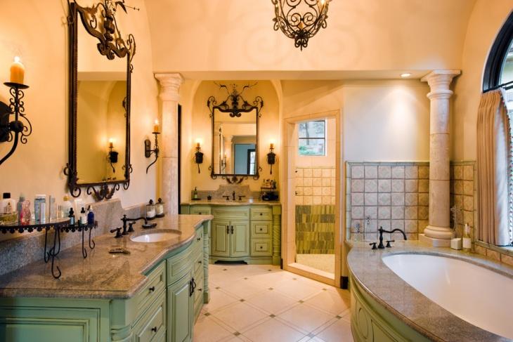 villa corner bathroom cabinet