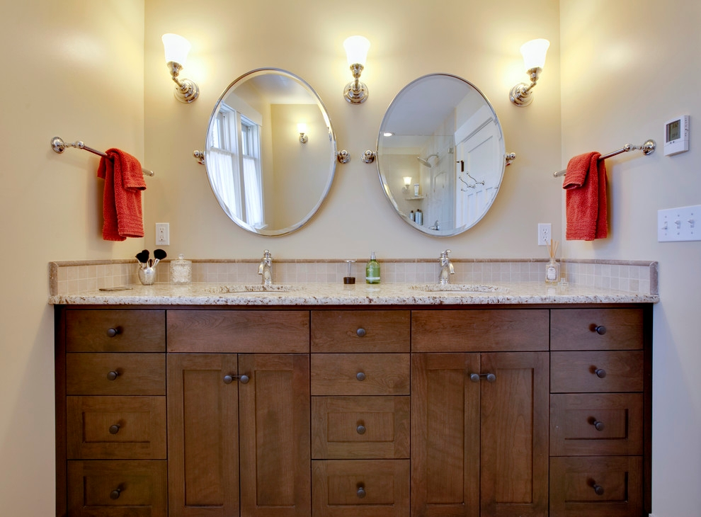 Corner Bathroom Vanity Cabinet Design