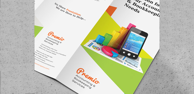 Trifold Brochure Template for Accounting & Bookkeeping Services