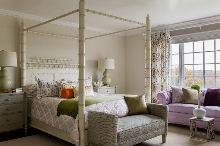 canopy bedroom bench idea